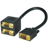 Kαλώδιο - Splitter VGA αρσ.σε 2x VGA θηλ.
