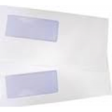 Φακελος Αλληλογραφίας Λευκός 11Χ23 Αριστερό Παράθυρο 500Τεμ.Black Red