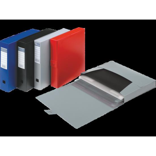 Κουτι Αρχειου-Αρχειοθήκη PP Με Κουμπί 7εκ. Ράχη Φ-Πλαστ
