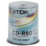 Cd-r Tdk 700MB Cake 100 τεμ.
