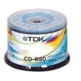 Cd-r Tdk 700MB Cake 50 τεμ.