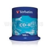 Cd-r Verbatim 700mb 100 Τεμ.