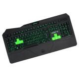 Πληκτρολόγιο F89PRO Keep Out GAMING μαύρο με πράσινο εσωτερικό φωτισμό
